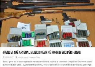 Ελληνο-αλβανικά σύνορα: Βρέθηκαν δύο σακούλες με πάνω από 1000 φυσίγγια