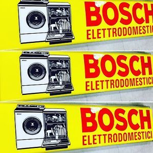 Insegna Luminosa Pubblicitario Vintage ELETTRODOMESTICI BOSCH Anni ' 70 WORK 🎛 | eBay