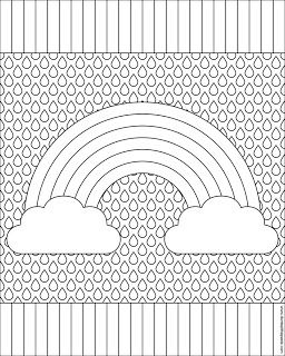 Don't Eat the Paste: Rainbow Coloring Page