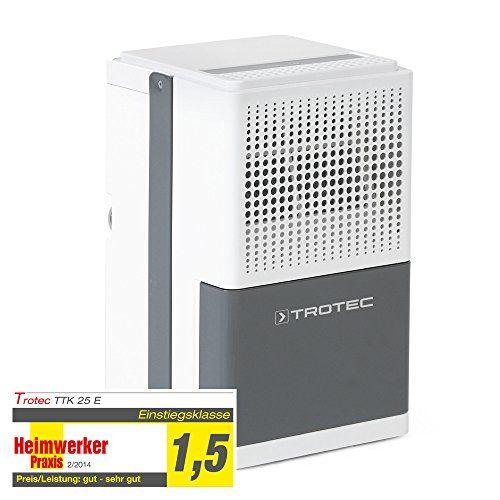 TROTEC TTK 25 E Déshumidificateur (12 l/j) pour 15 m²/37 m³ max.: Pour petites pièces de 15 m² max. Utile pour faire sécher le linge en…