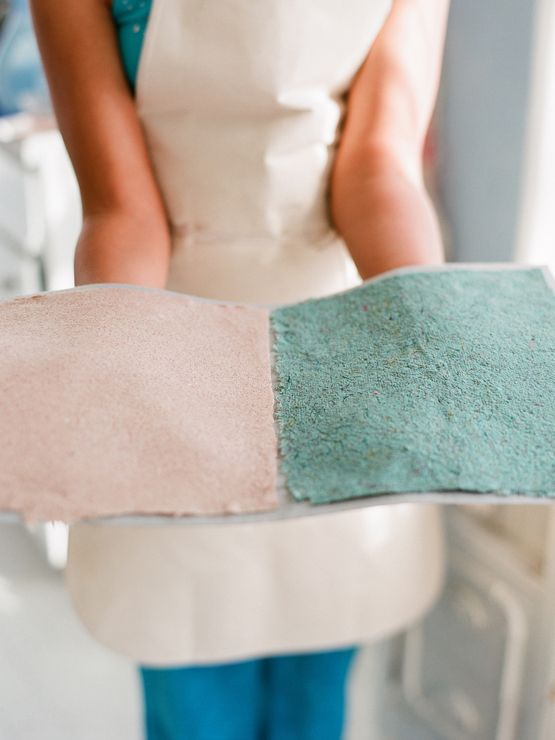 Homemade paper. You can make paper out of almost anything…. in this tutorial they made lavender & grass paper….and even cinnamon paper.