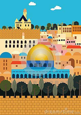 Jerusalem by Michal Eyal, via Dreamstime