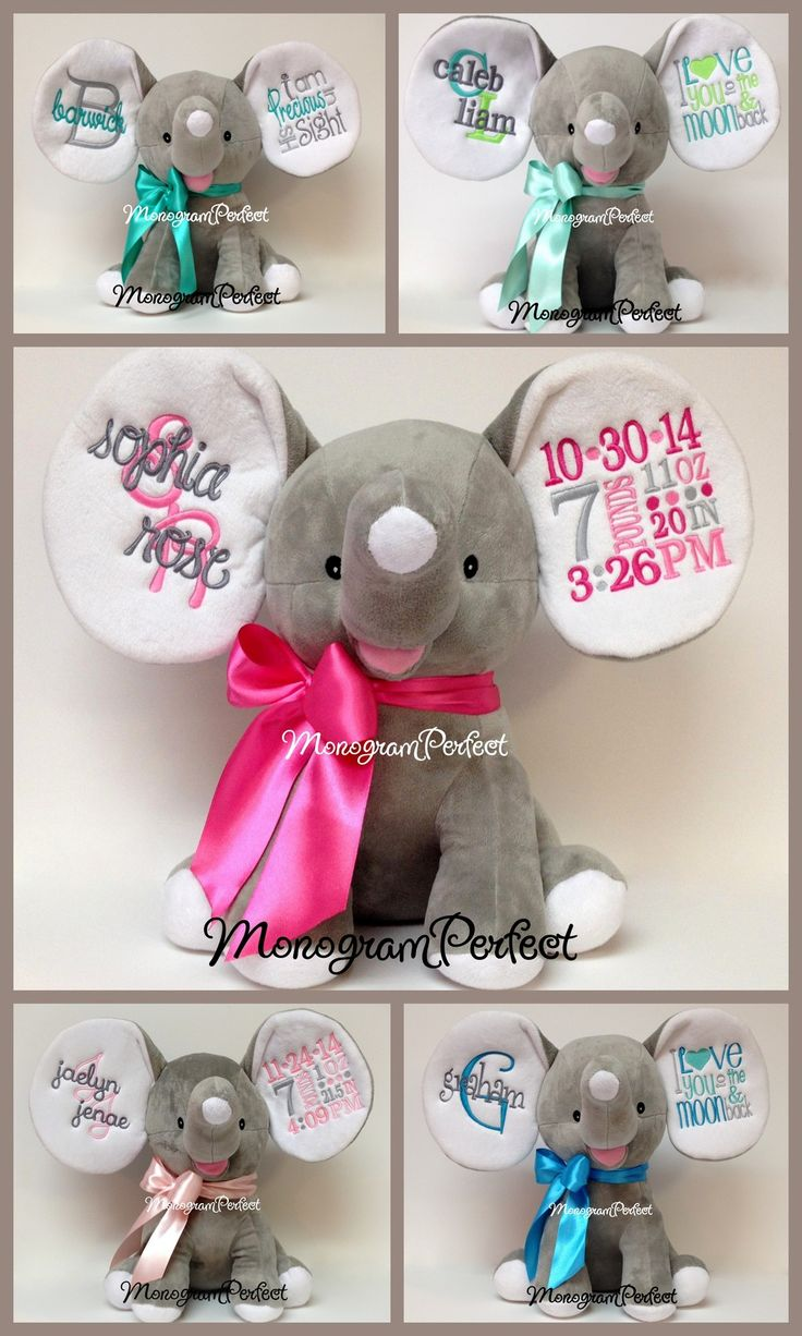 PERSONALIZED BIRTH ANNOUNCEMENT / BIBLE VERSE ELEPHANTS