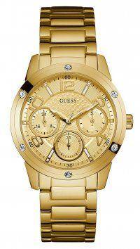 Guess Ρολόι Guess πολλαπλών ενδείξεων με χρυσό μπρασελέ και καντράν W0778L2