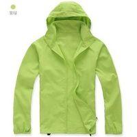 Pareja cortavientos chaqueta impermeable Súper ligero de los deportes , primavera otoño prendas de vestir exteriores , color del caramelo de acampar al aire libre de la chaqueta informal
