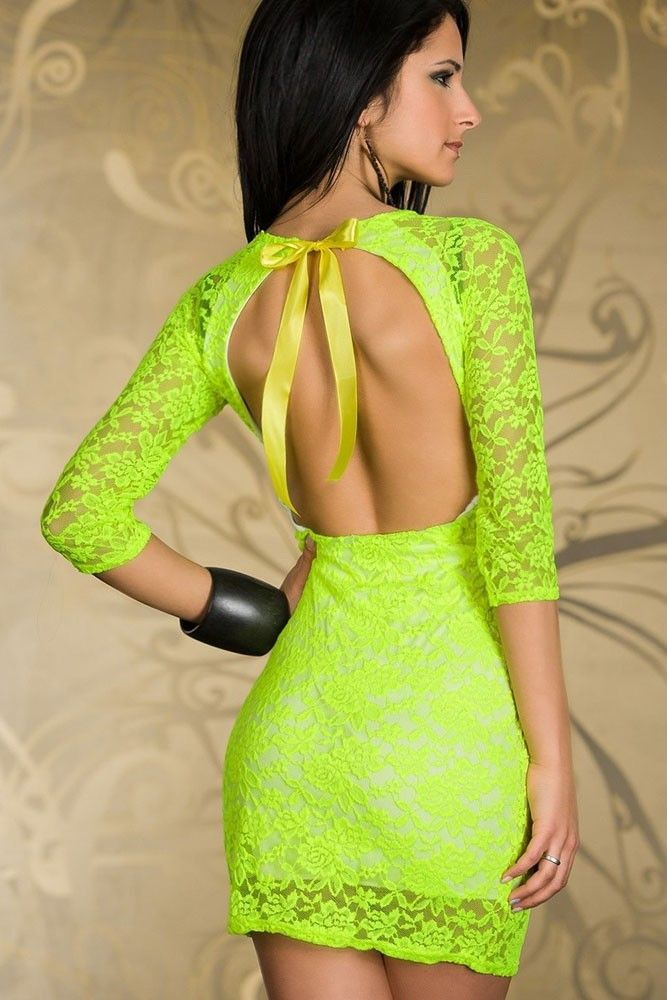 17 Best ideas about Neon Green Dresses on Pinterest | Neon prom