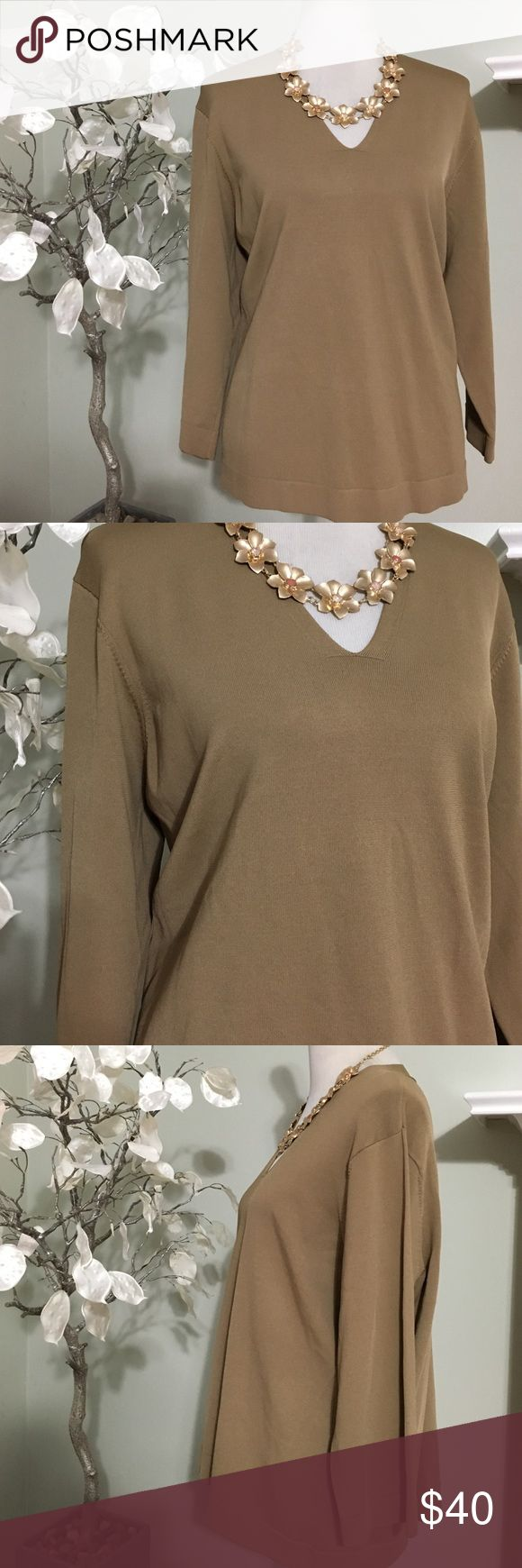 TALBOTS PETITE SWEATER Gorgeous petite sweater , great quality of rayon , perfect condition Talbots Sweaters V-Necks