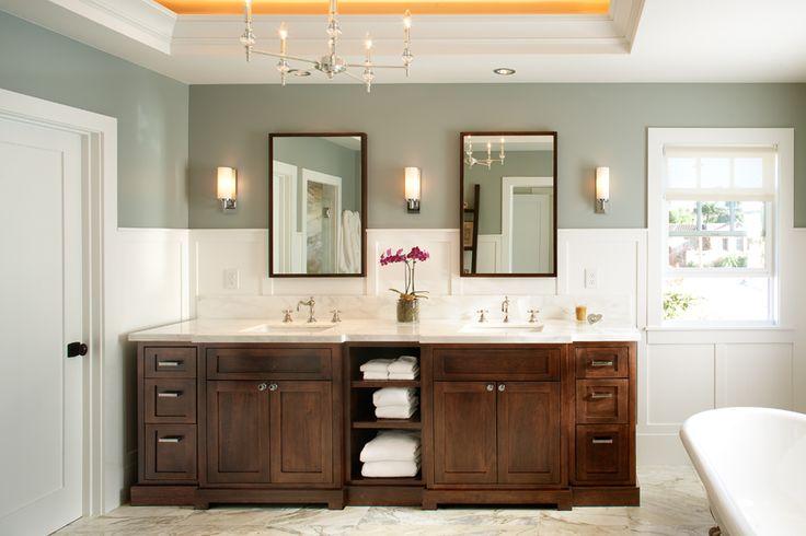 Modern Craftsman bathroom