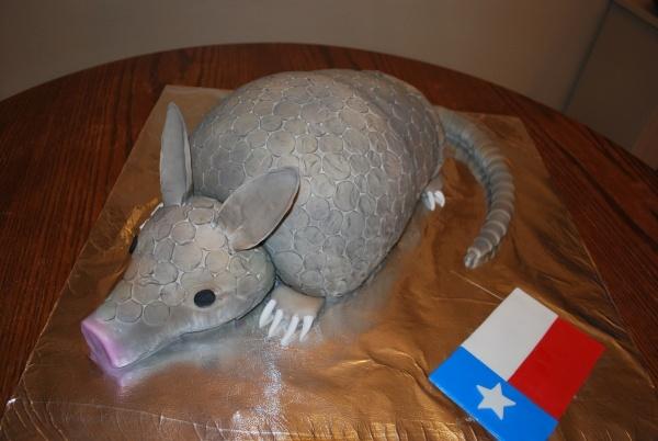 Bleeding Armadillo grooms cake (minus the Texas flag, of course