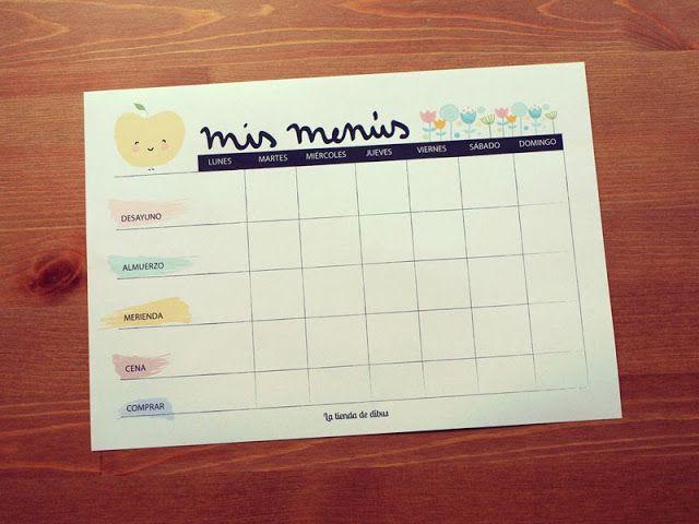 17 mejores ideas sobre planificadores de men s semanales for Organizar comida semanal