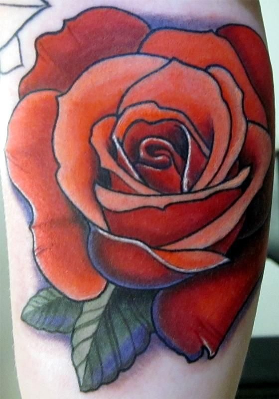 Gallery For > Colorful Rose Tattoos