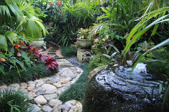 10 images about front yard landscaping ideas on pinterest for Tropical garden designs australia