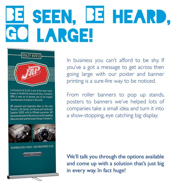 Be seen, be heard, go large with Kall Kwik Romford.