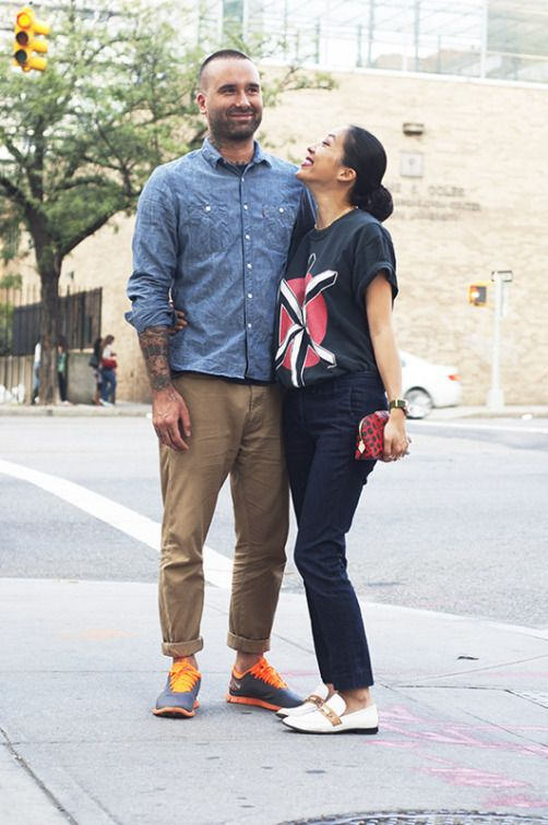 New York Streetstyle. New York couples street style. Photo by Elina Simonen.  http://www.yhdenmiehentyyli.com #menswear
