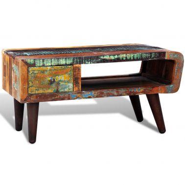 Kaffebord i antik stil 90x45x45cm återvunnet trä[2/11]
