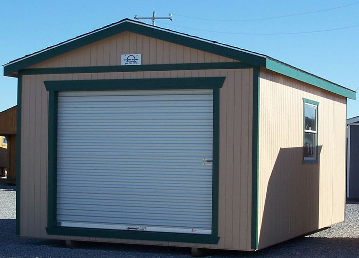 Gable Style Shed with a roll up door | Shed, Metal ...