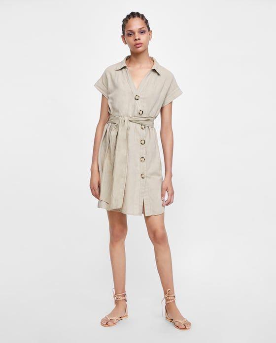 503e86d271 VESTIDO CAMISERO BOTONES in 2019   SS 18   Shirt dress, Dresses, Shirts