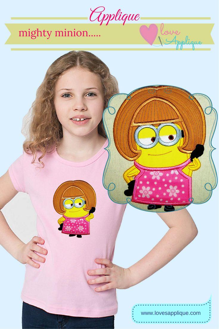 Minion Applique Designs. Minion Embroidery Designs. Minion Design Patterns. Minion Party Ideas. Minion Outfits. www.lovesapplique.com
