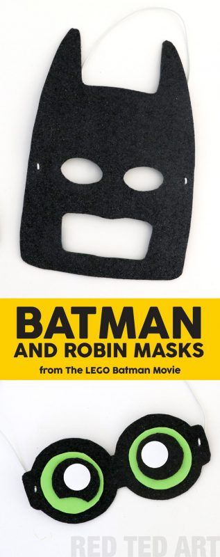 My kids can't wait to see The LEGO Batman Movie (in theaters Feb 10) and in eager anticipation, we have made these cool and EASY Batman and Robin Masks (includes free printables). Make a set, take them to the movie and be the envy of all the other movie go-ers #LEGOBatman (AD)