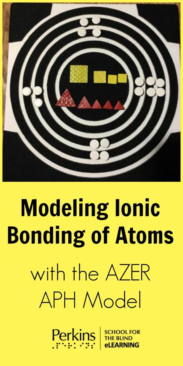 Modeling ionic bonding of atoms with the AZER APH model for students with visual impairments