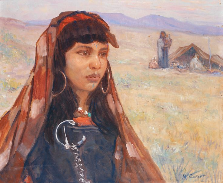 MARCEL CANET (1875-1958) - LA BELLE KABYLE - PRETTY GIRL FROM KABYLIE