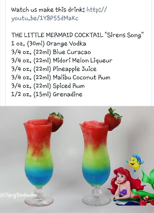 Little mermaid cocktail recipes pinterest cocktails for 7 and 7 drink recipe