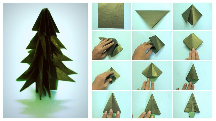 Origami pine tree- perfect for a mini Christmas forest!