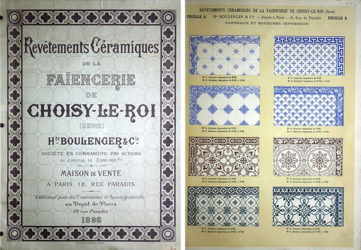 Catálogo da Fábrica Faiancerie de Choisy-le-Roi | França | 1898 / Catalogue o the factory Faiancerie de Choisy-le-Roi | France | 1898