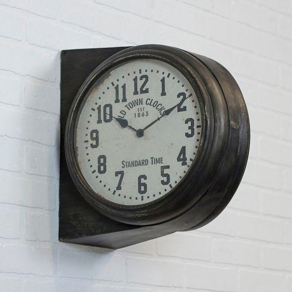 Lewis Side Mount Wall Clock Wall Clock Clock Farmhouse Wall Clocks