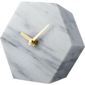 CB2 Hex Marble Desk Clock