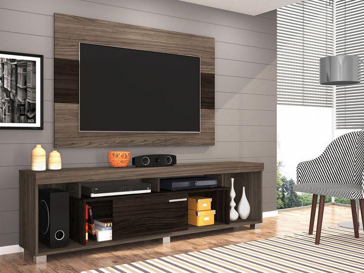 Rack Tv Sala Pequena ~  Rack Para Sala on Pinterest  Racks para sala, Racks para tv and Rack