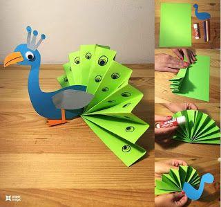 Eğlenceli Öğretmen: Kâğıtlardan kesme, yapıştırma, katlama etkinlikleri