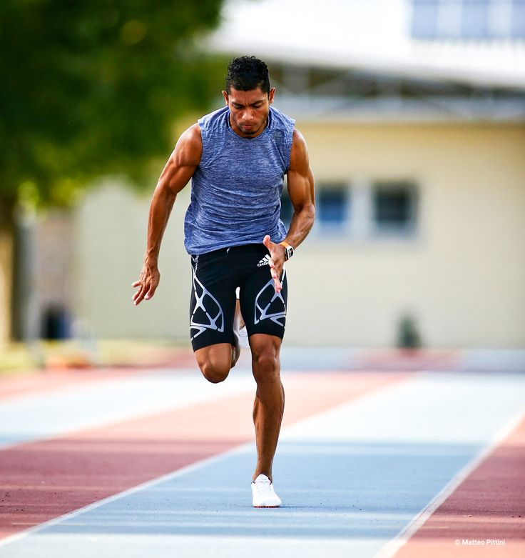 Van Niekerk set the 400 meter world record at Rio 2016.