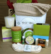 """A unique twist on the get well gift basket, our Enjoy Collection delivers a message of vitality and freshness to a friend or loved one. It contains a collection of vibrant items that provide comfort, warmth and healing and allow the recipient to sit back and """"enjoy"""" a few hours of serenity. This is a versatile gift, and customers often choose this gift for a get well gift, after surgery gift, cancer patient gift or even a thank you gift."""