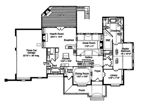 Caledonia Hill European Home Plan 065D-0043 | House Plans and More