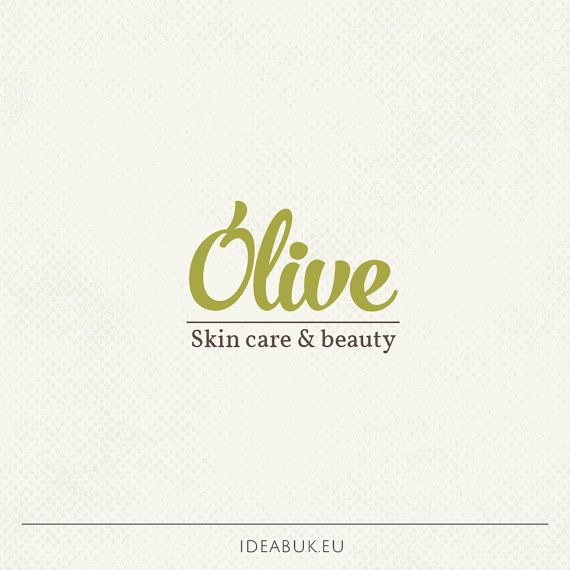 Pre made logo, Olive logo, Skin care, Nature logo, Handwritten logo…