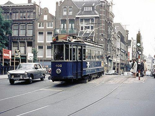 GVB Amsterdam 405, Lijn 2 Leidsestraat, Prinsengracht 1966  Vintage Collection of GVB