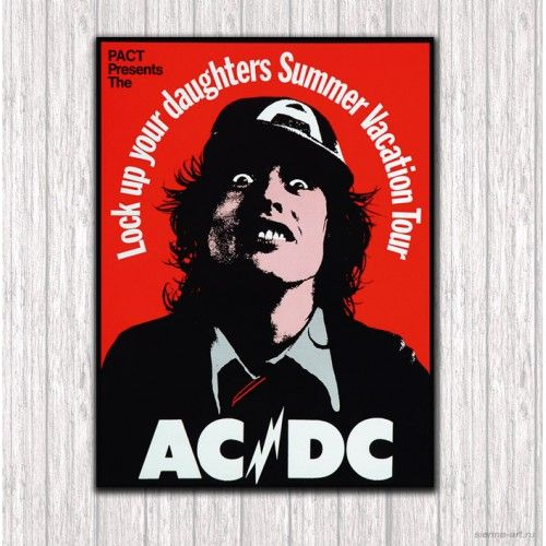 """AC/DC """"Lock up your daughters Summer Vacation Tour"""" (Ангус Янг)"""