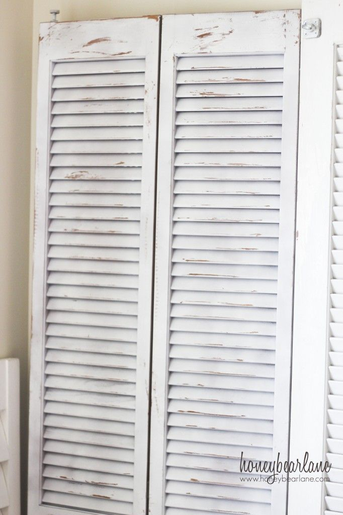 DIY:: Distressed Shutters (with Candle Wax) !! -Tutorial bought the shutters must now decide how to use them