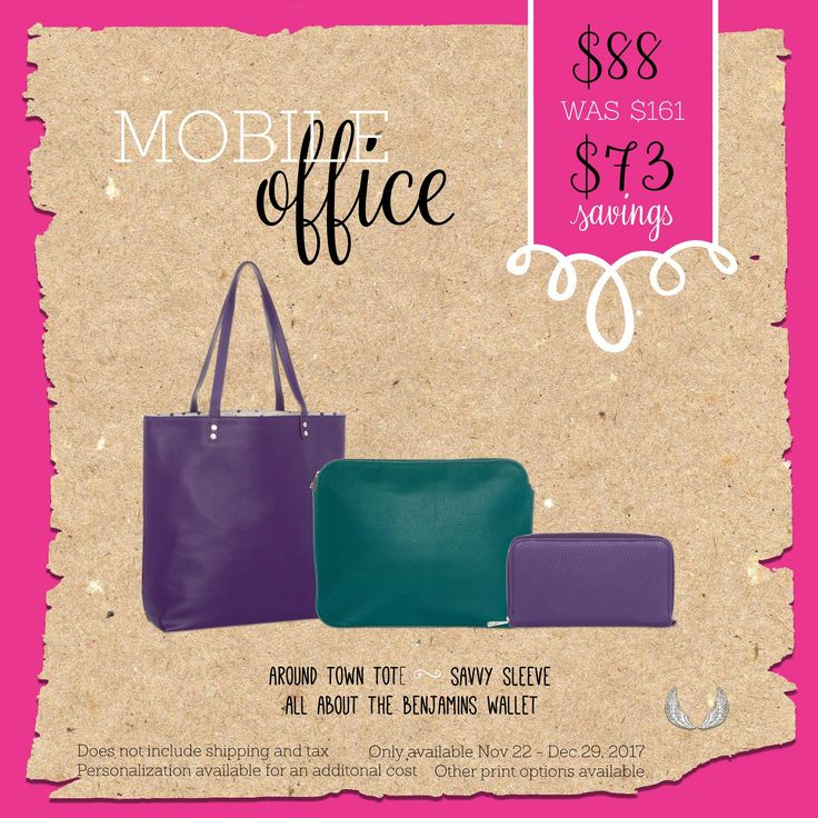 For the woman on the go! Thirty-One's office on the go bundle!