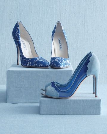 Show off these high-steppers with a tea-length (or shorter) dress, or play coy with a longer, now-you-see-them, now-you-don't hemline.: Wedding Inspiration, Swank Shoes, Wedding Colors, Color Palette Blue, Something Blue, Blue Swank, Blue Wedding, Wedding Color Palettes