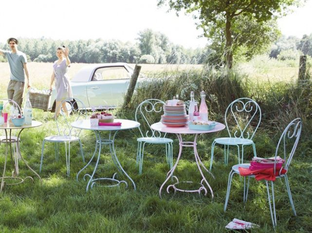 Maisons du monde table jardin outdoor beautiful - Mobilier de jardin fer ...