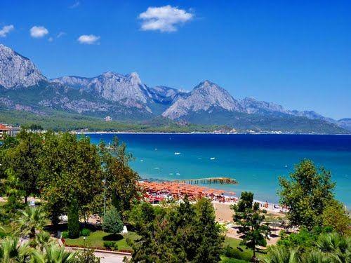 Wonderful view of Kemer bay, Turkey