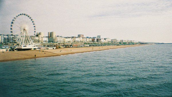 Brighton beach from the pier - taken with a La Sardina lomography camera