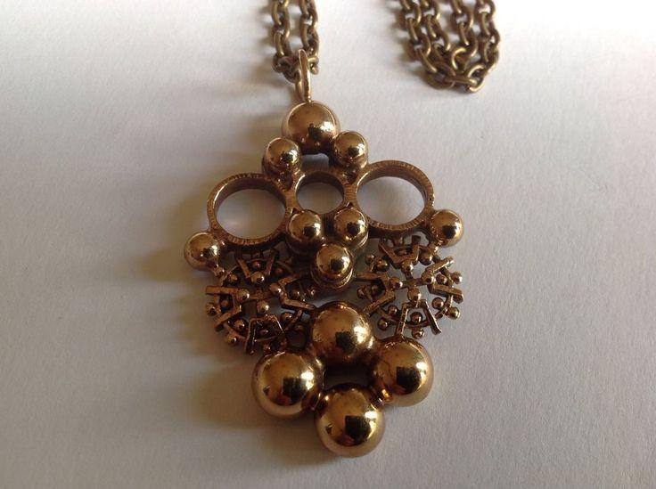Kalevi Sara, vintage bronze pendant. #Finland