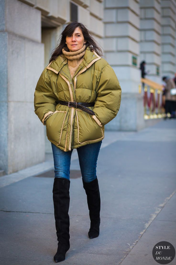 New York Fashion Week FW 2016 Street Style: Emmanuelle Alt