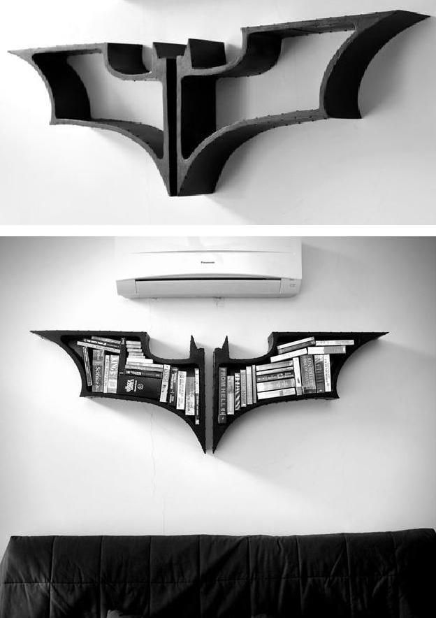 Dark Knight Bookshelves For my inner Comic geek. They done come cheap.