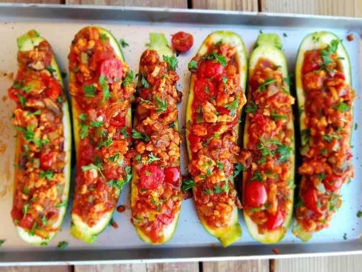Italian Stuffed Zucchini Recipe…