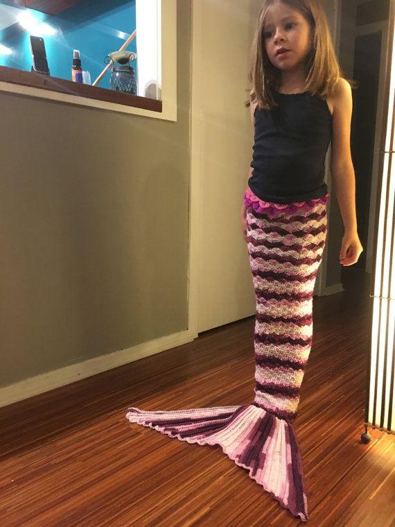 Crochet mermaid tail  Berry Smoothie tones yarn  by LaMalaTae