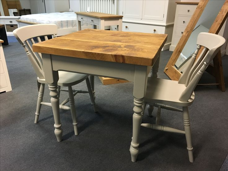 A Rustic Plank Top Table And Chairs. Painted In Fu0026B Purbeck Stone. Cobwebs  Furniture
